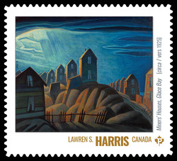 Lawren S. Harris - Miners' Houses, Glace Bay (Circa 1925) Canada Postage Stamp | Group of Seven