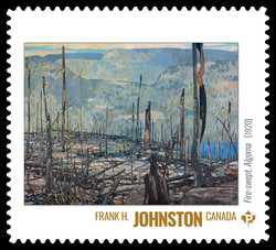 Frank H. Johnston - Fire-swept, Algoma (1920) Canada Postage Stamp | Group of Seven