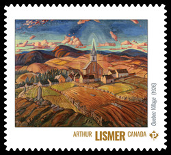 Arthur Lismer - Quebec Village (1926) Canada Postage Stamp | Group of Seven