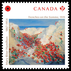 Mary Riter Hamilton - Trenches on the Somme Canada Postage Stamp