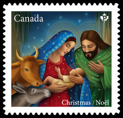 Nativity - Christmas 2020 Canada Postage Stamp