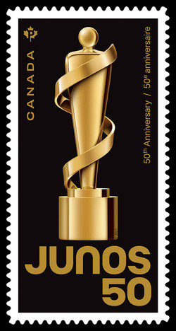 The JUNO Awards 50th Anniversary Canada Postage Stamp