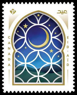 Eid 2021 Canada Postage Stamp