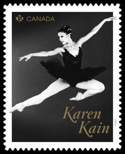 Karen Kain Canada Postage Stamp | Canadian Ballet Legends